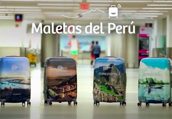 В Перу придумали чемоданы-рекламоносители