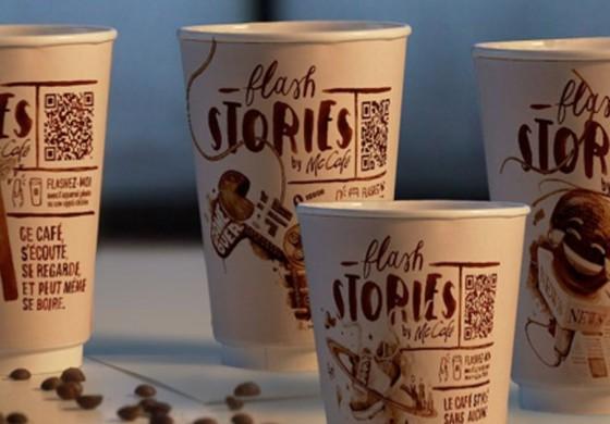 Сеть McDonald's «спрятала» новости на кофейных стаканчиках