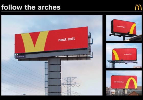 «Макдоналдс» запустил собственные дорожные знаки